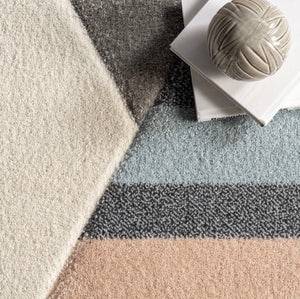 Beige Modern Abstract Area Rug