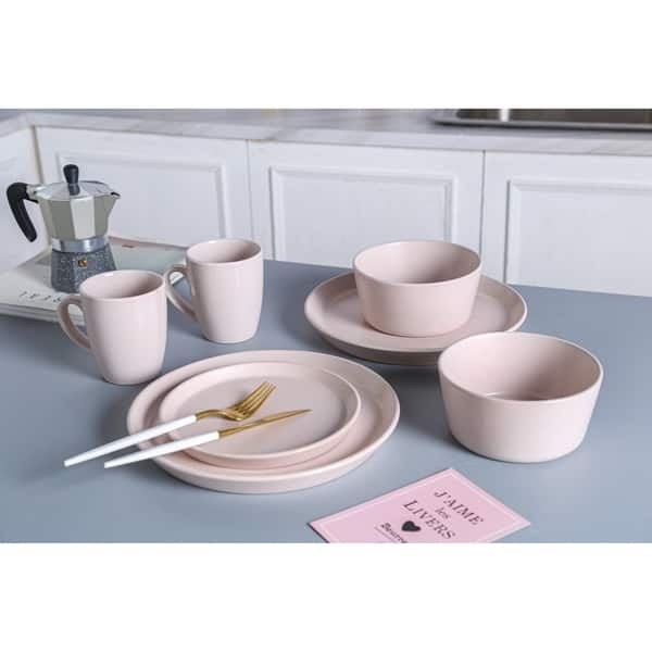 Matte Pink Dinnerware Set