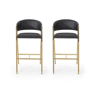 Black Bar Stools Set