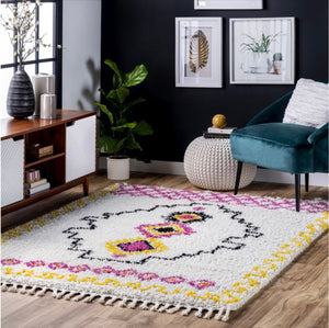 Multi Tribal Shag Rug