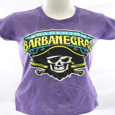 Bradenton Barbanegras Ladies Distressed Purple Tee