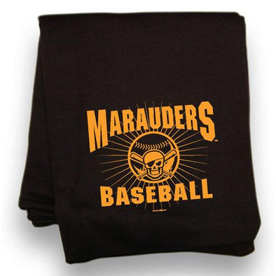 Bradenton Marauders Sweatshirt Blanket Black