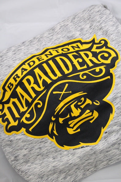 Bradenton Marauders Sweatshirt Blanket Grey