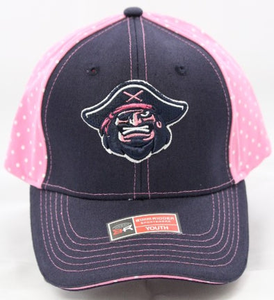 Bradenton Marauders Youth Girls Polka Dot Hat