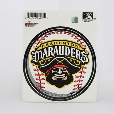 Bradenton Marauders Logo Baseball Decal