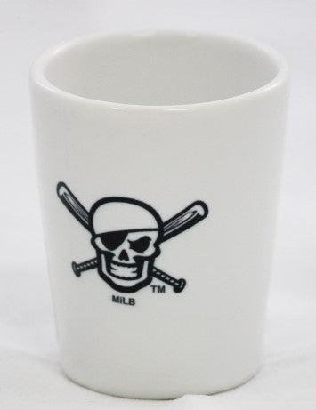 Bradenton Marauders Skull Ceramic Shot Glass