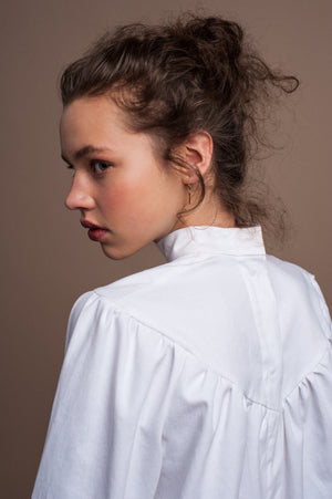 LU white twill shirt