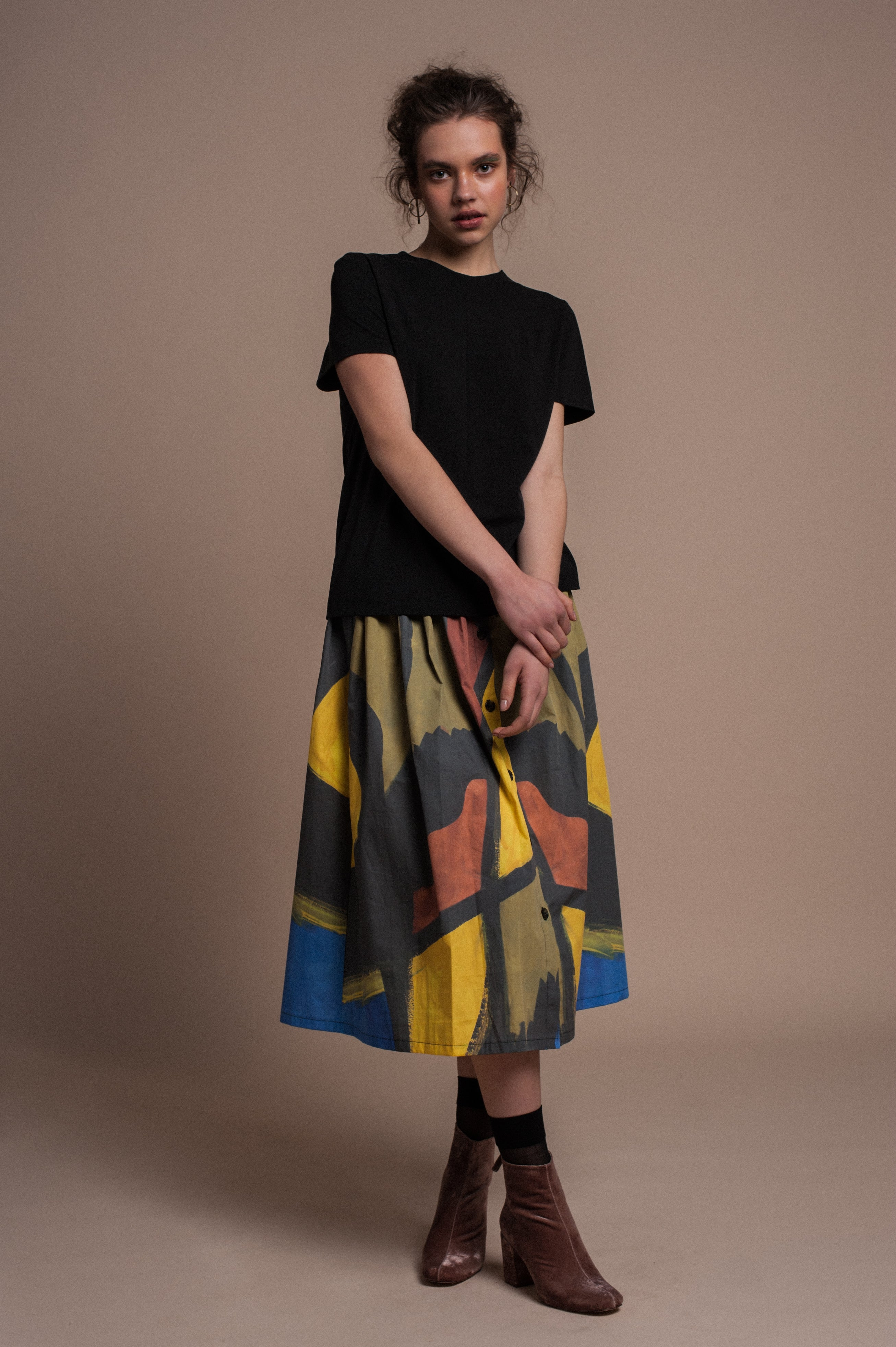 MII midi skirt in print