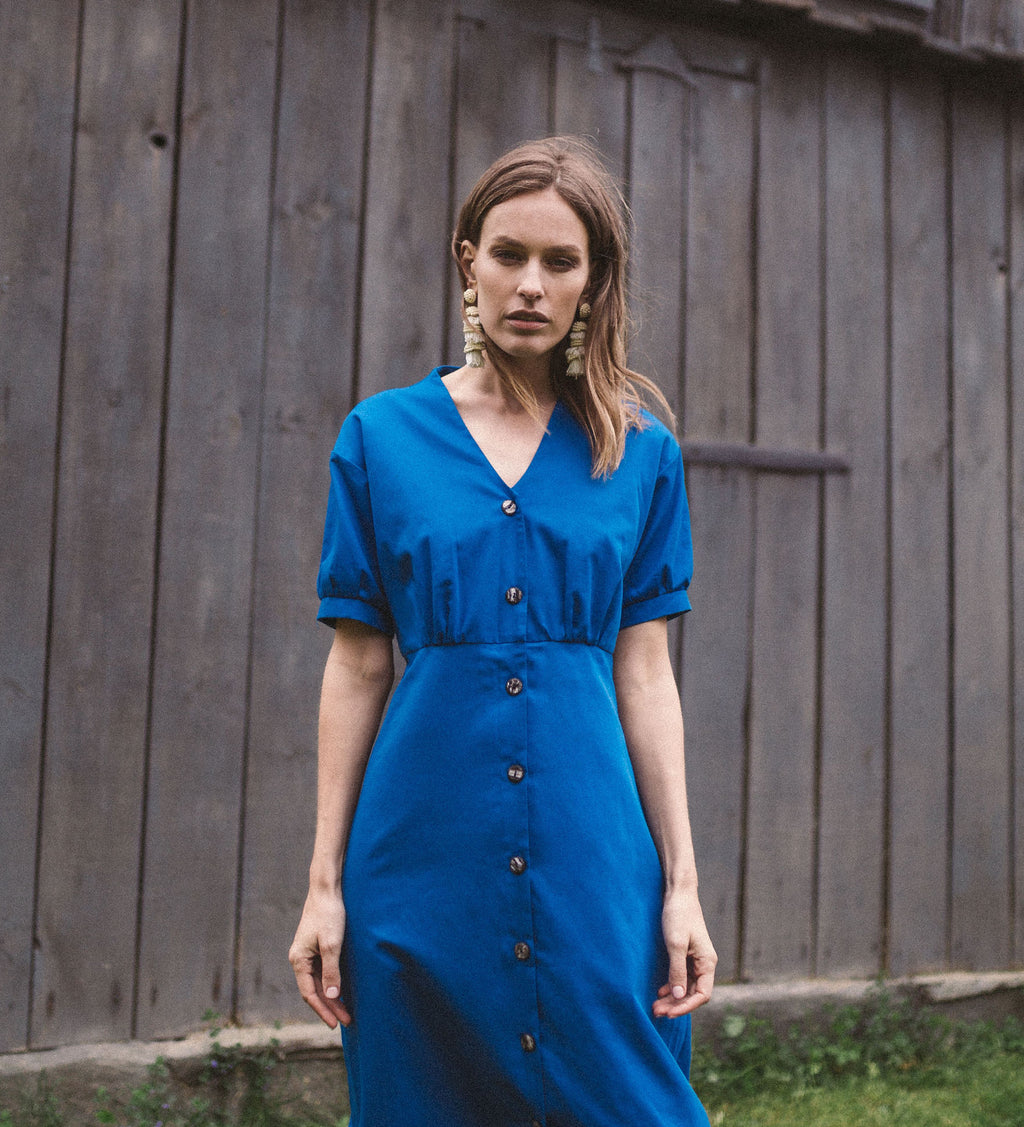 BUBU mini dress in blue