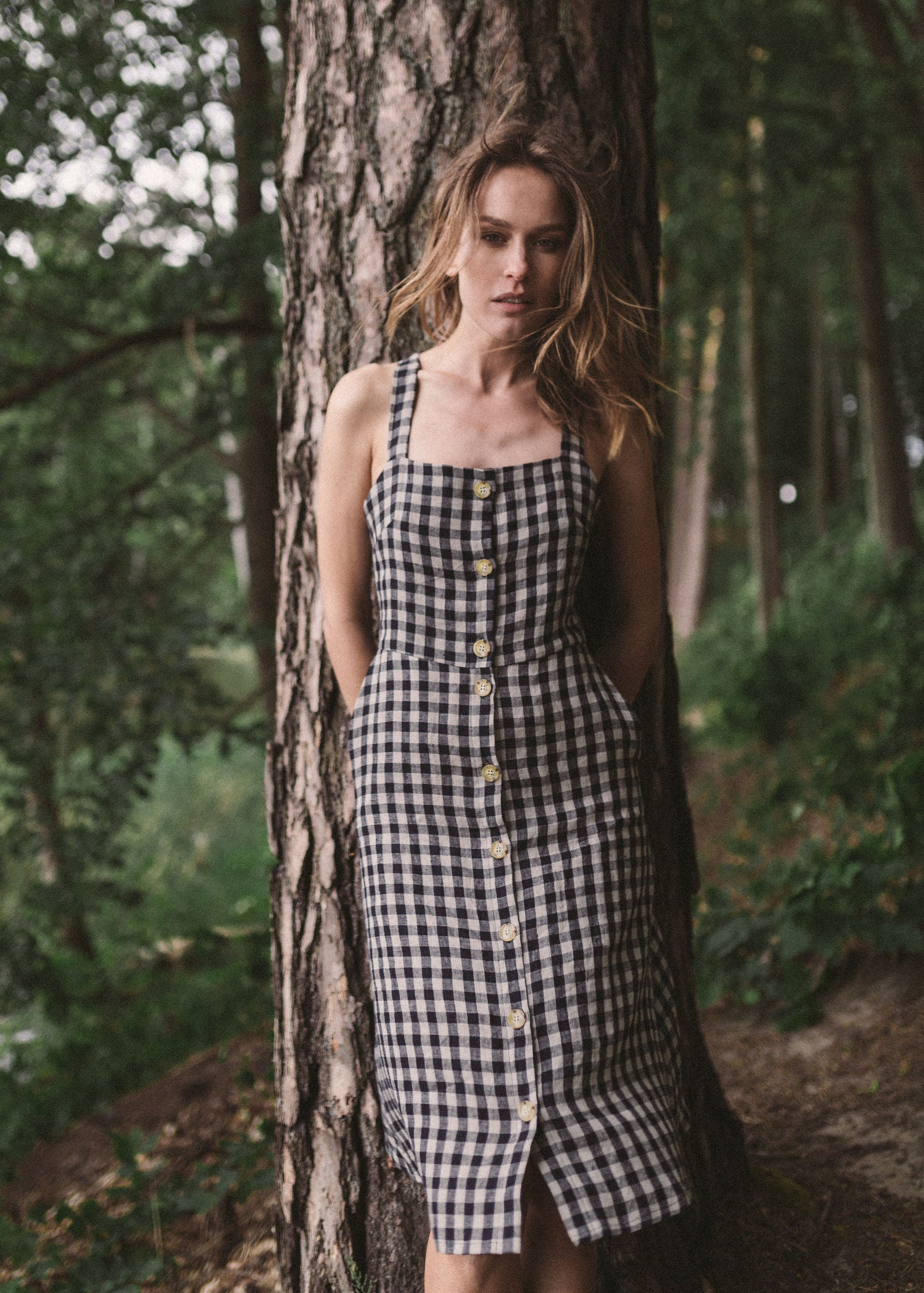 LUCA dress in check linen