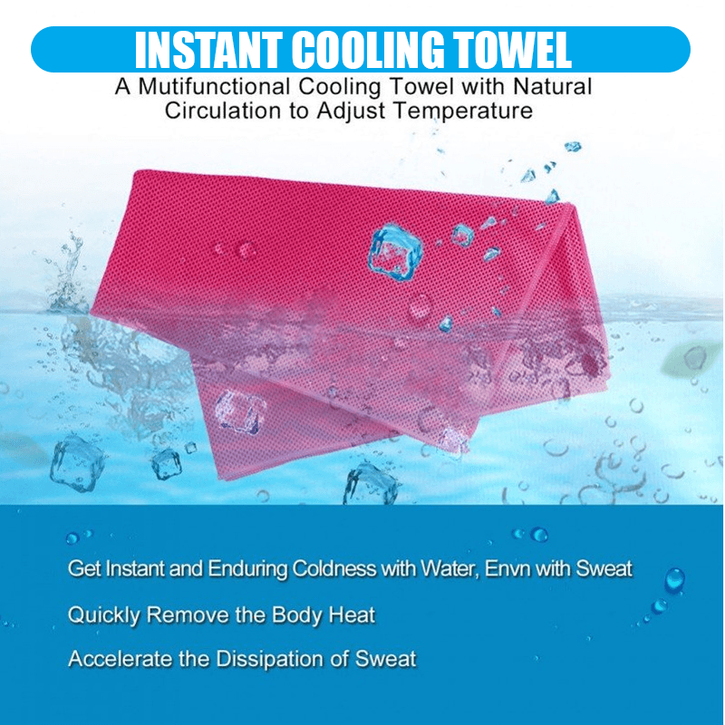 Icy Cooling Microfiber Silky Towel