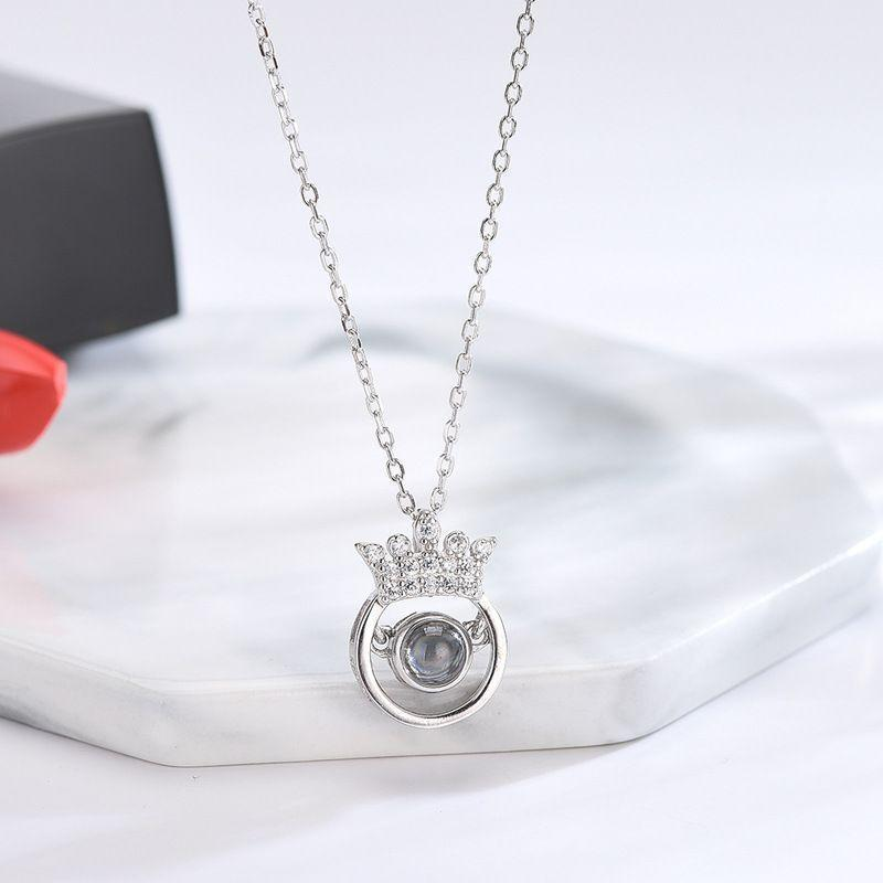 "100 Languages ""I LOVE YOU"" Crown Necklace"
