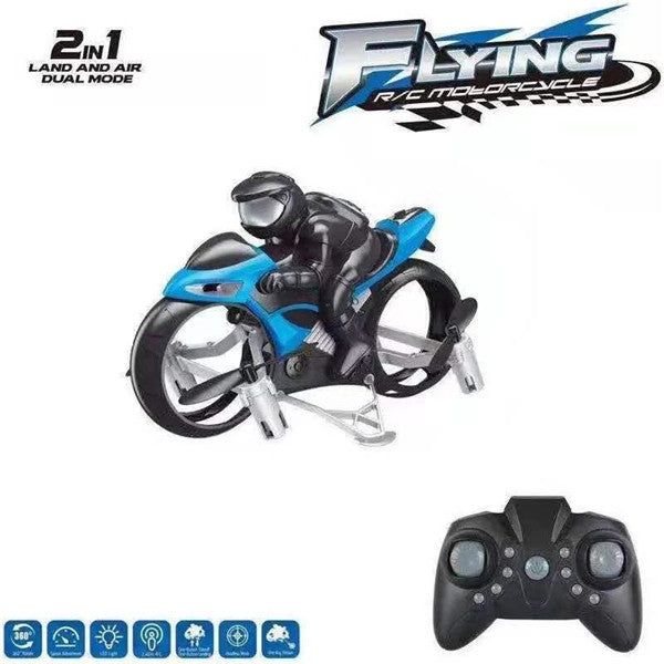 Land-air amphibious remote-controlled quadcopter motorcycle aircraft