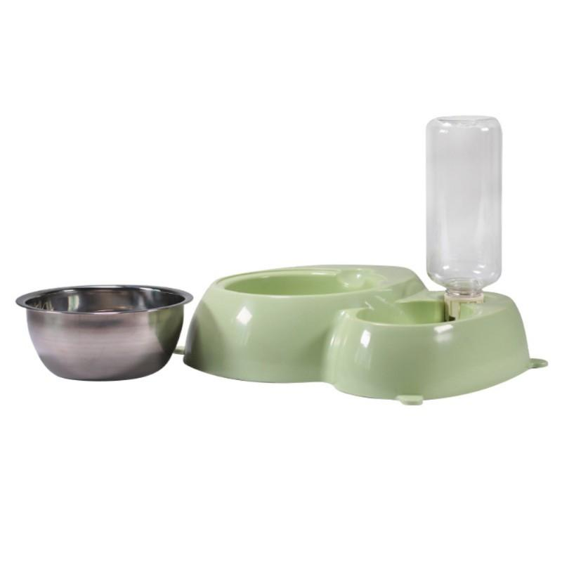 Non-Slip Dog Bowl and Water Feeder with Detachable Stainless Steel Bowl