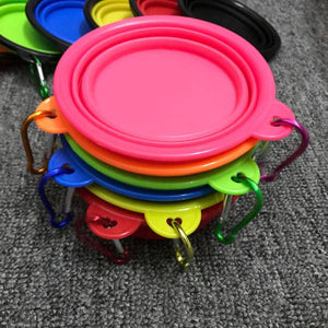 Premium Collapsible Travel Pet Bowls