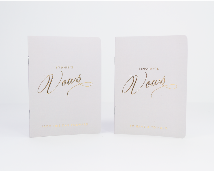 Wedding Vow Books, Custom Vow Booklets #021 by Starboard Press