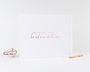 Real Foil Wedding Guest Book #083 by Starboard Press