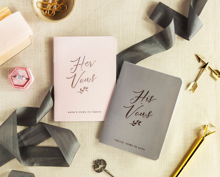 Wedding Vow Books, Custom Vow Booklets #017 by Starboard Press