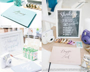 Portrait Wedding Guest Book #017   by Starboard Press