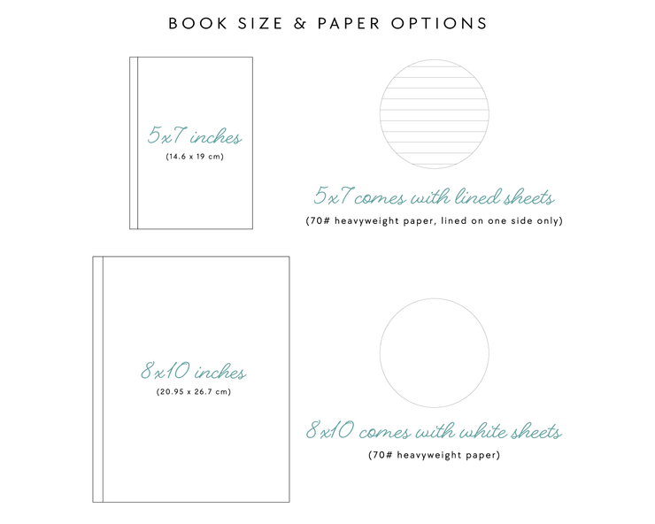 Portrait Wedding Guest Book #022   by Starboard Press