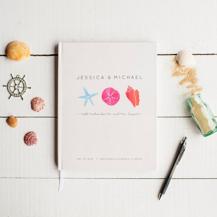 Portrait Wedding Guest Book #026   by Starboard Press