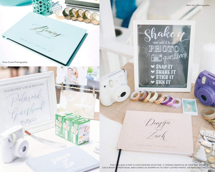 Portrait Wedding Guest Book #029   by Starboard Press