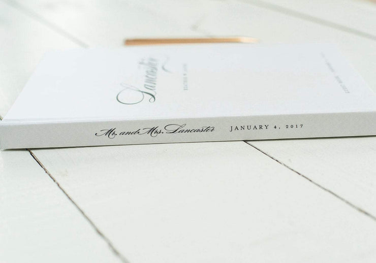 Portrait Wedding Guest Book #030   by Starboard Press