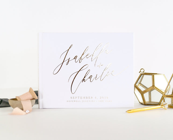 Real Foil Wedding Guest Book #001 by Starboard Press