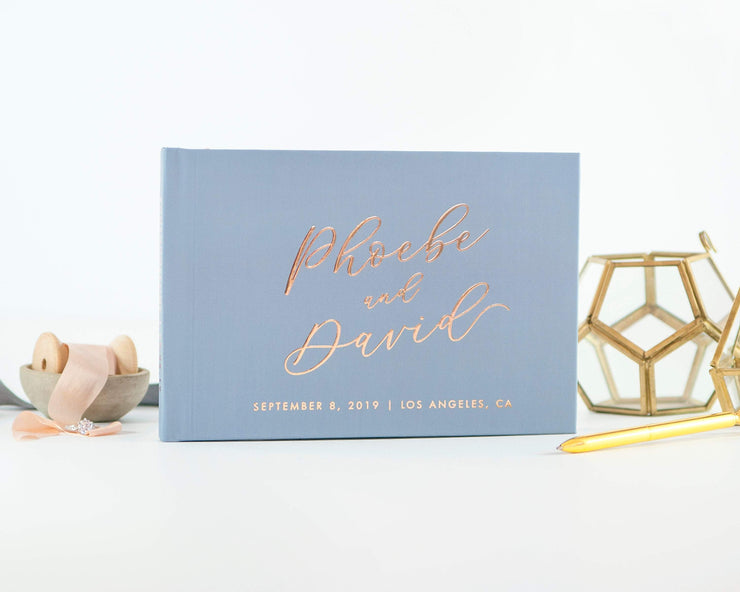 Real Foil Wedding Guest Book #008 by Starboard Press