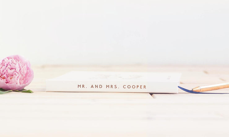 Real Foil Wedding Guest Book #013 by Starboard Press