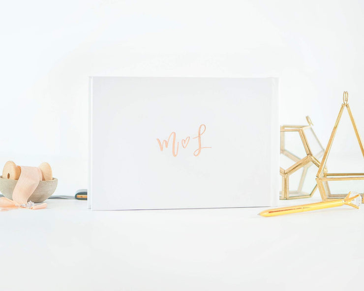 Real Foil Wedding Guest Book #020 by Starboard Press