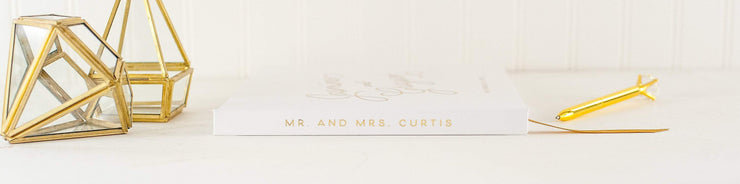 Real Foil Wedding Guest Book #034 by Starboard Press