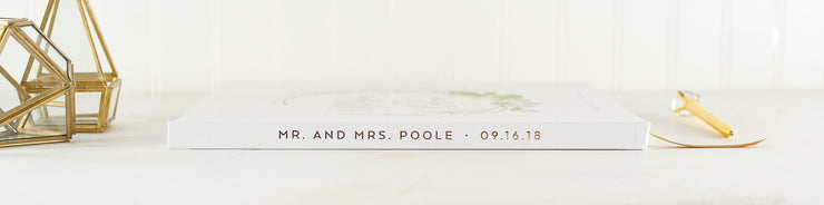 Real Foil Wedding Guest Book #048 by Starboard Press