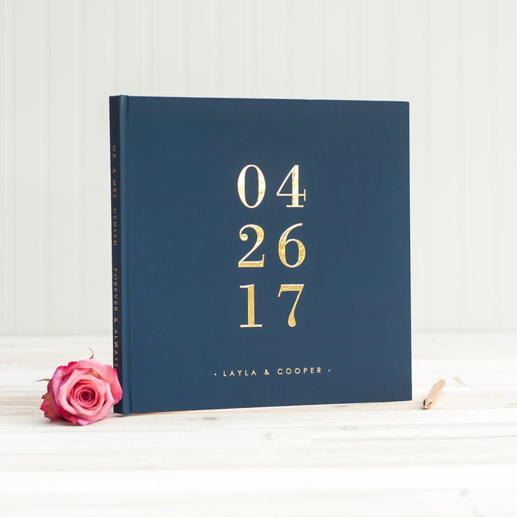 Real Foil Wedding Guest Book #051 by Starboard Press