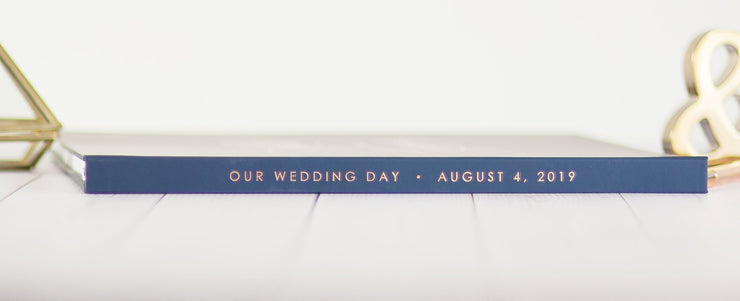 Real Foil Wedding Guest Book #059 by Starboard Press