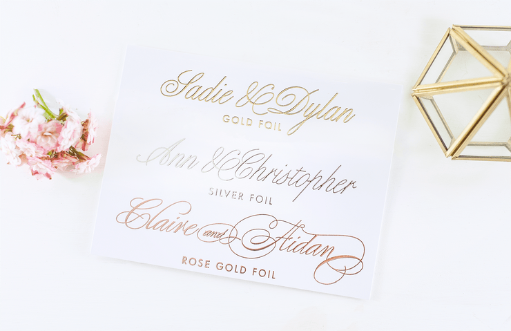 Real Foil Wedding Guest Book #064 by Starboard Press