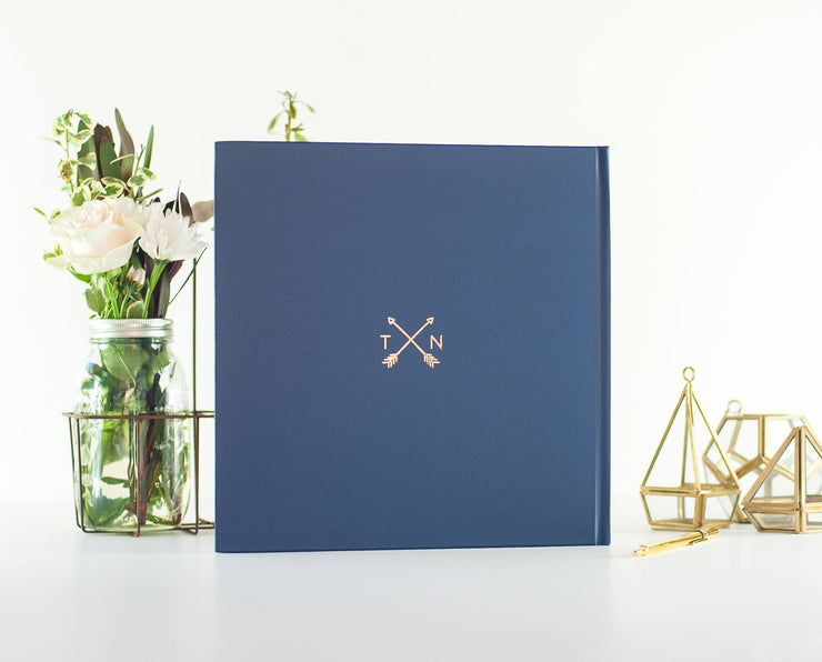 Real Foil Wedding Guest Book #074 by Starboard Press