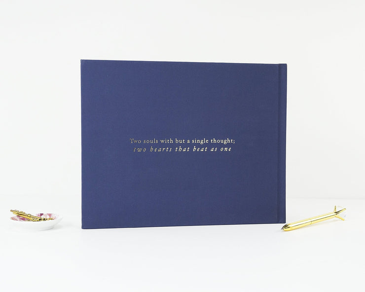 Real Foil Wedding Guest Book #087 by Starboard Press