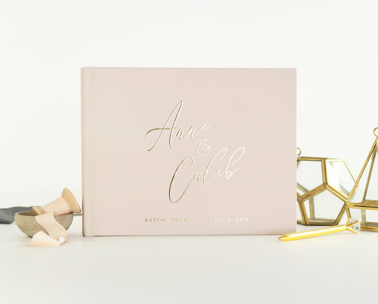 Real Foil Wedding Guest Book #093 by Starboard Press