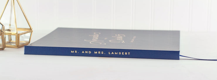 Real Foil Wedding Guest Book #105 by Starboard Press