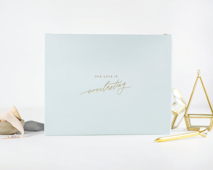 Real Foil Wedding Guest Book #107 by Starboard Press