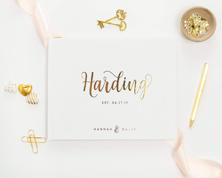 Real Foil Wedding Guest Book #130 by Starboard Press