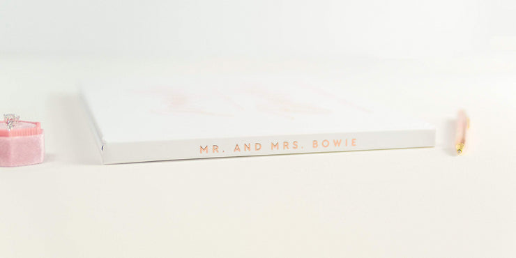 Real Foil Wedding Guest Book #140 by Starboard Press