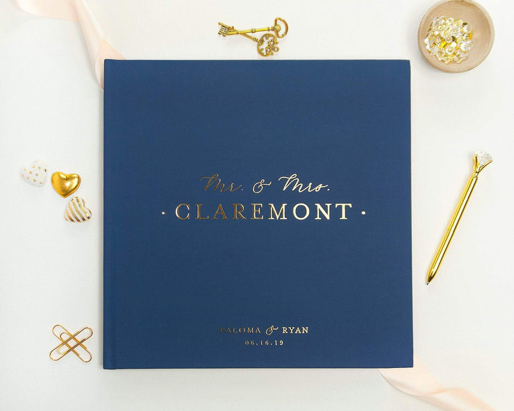 Real Foil Wedding Guest Book #141 by Starboard Press