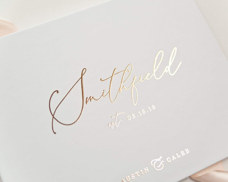 Real Foil Wedding Guest Book #147 by Starboard Press