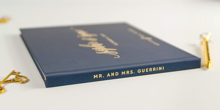 Real Foil Wedding Guest Book #153 by Starboard Press
