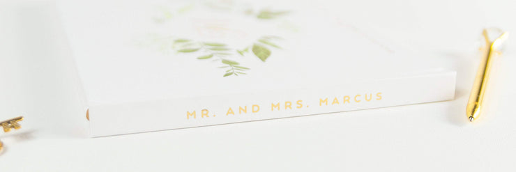 Real Foil Wedding Guest Book #155 by Starboard Press