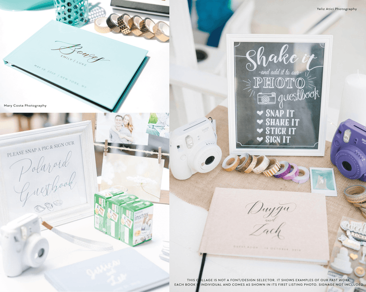 Real Foil Wedding Guest Book #158 by Starboard Press