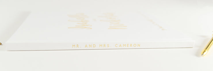 Real Foil Wedding Guest Book #163 by Starboard Press