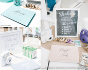 Real Foil Wedding Guest Book #169 by Starboard Press